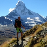 Face au Cervin au-dessus de Zermatt