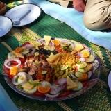 repas de midi lors du trek