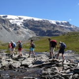 Montée vers le col des Cîmes Blanches et le glacier de Ventina