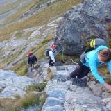 Dans la montée du col Valcornera