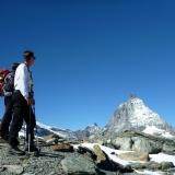 Le Cervin depuis la Gandegghütte